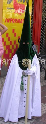 Nazareno de la Semana Santa de Sevilla