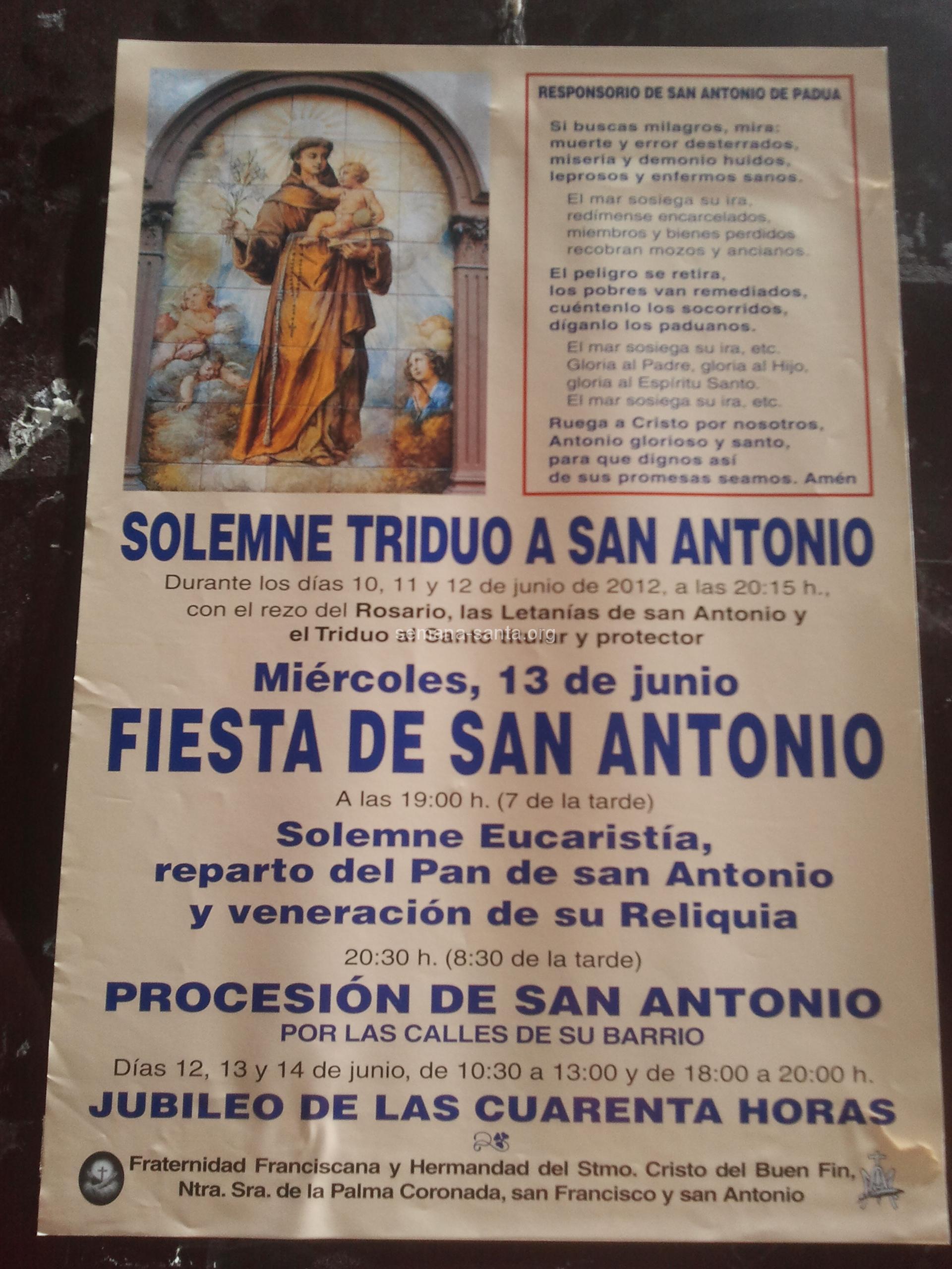SAN ANTONIO Padova. – Karwoche in Sevilla